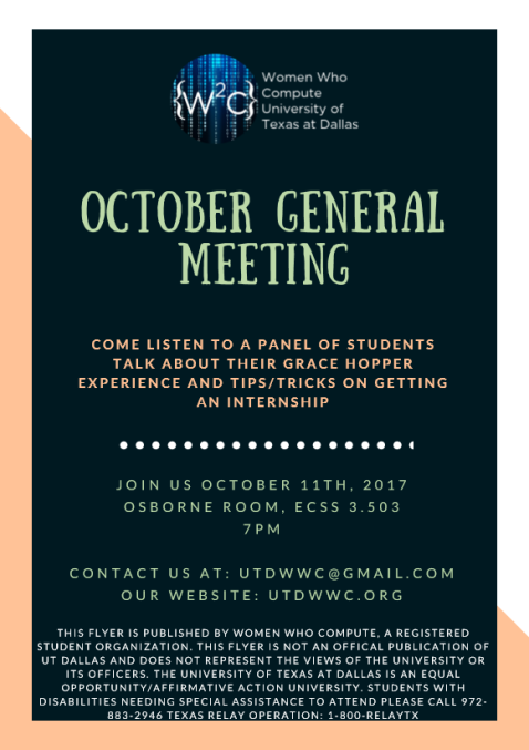 October General Meeting