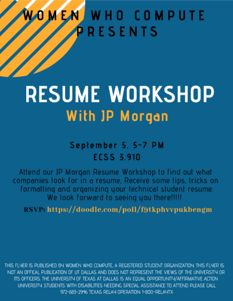 JP Morgan - Resume Workshop