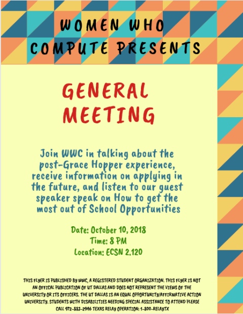 Post GHC General Meeting - Oct 10